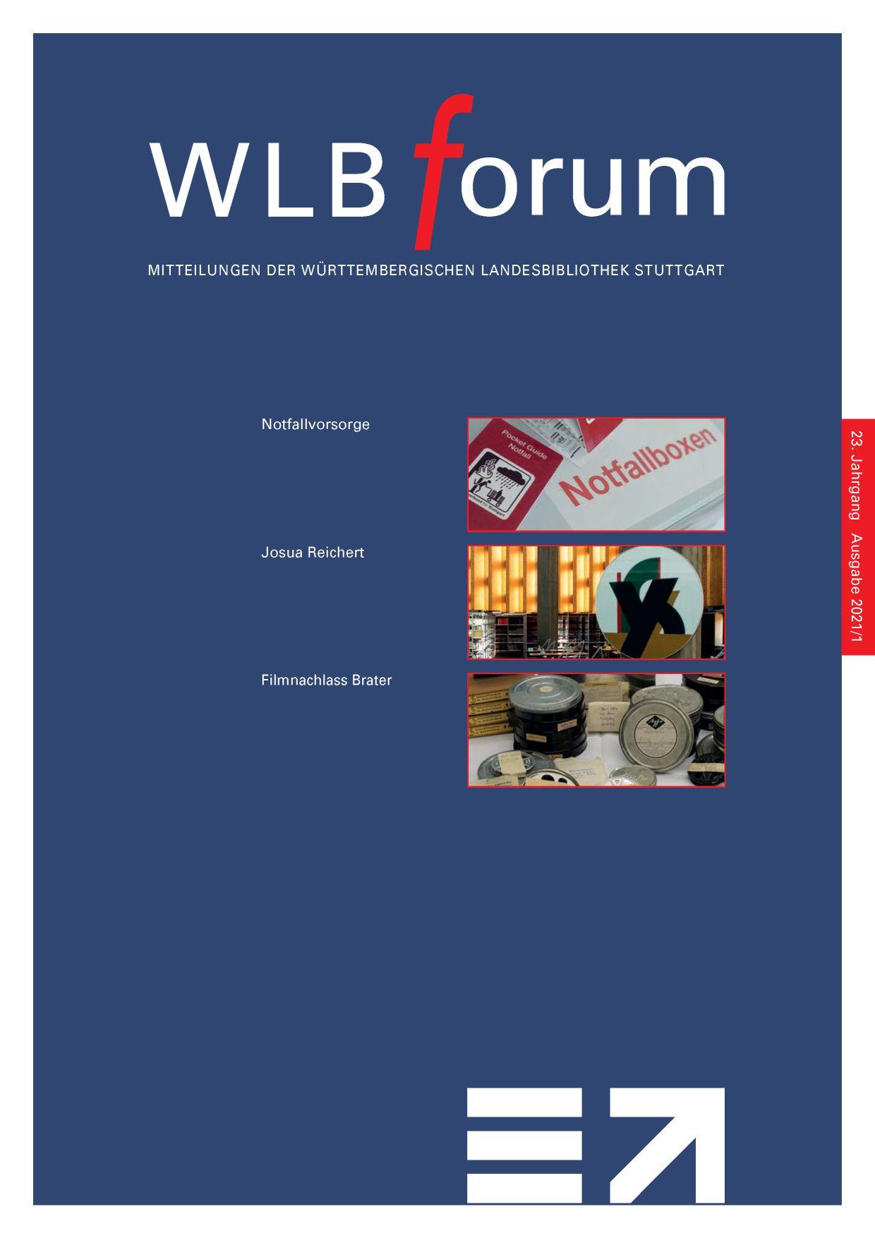Ansehen Bd. 23 Nr. 1 (2021): WLBforum