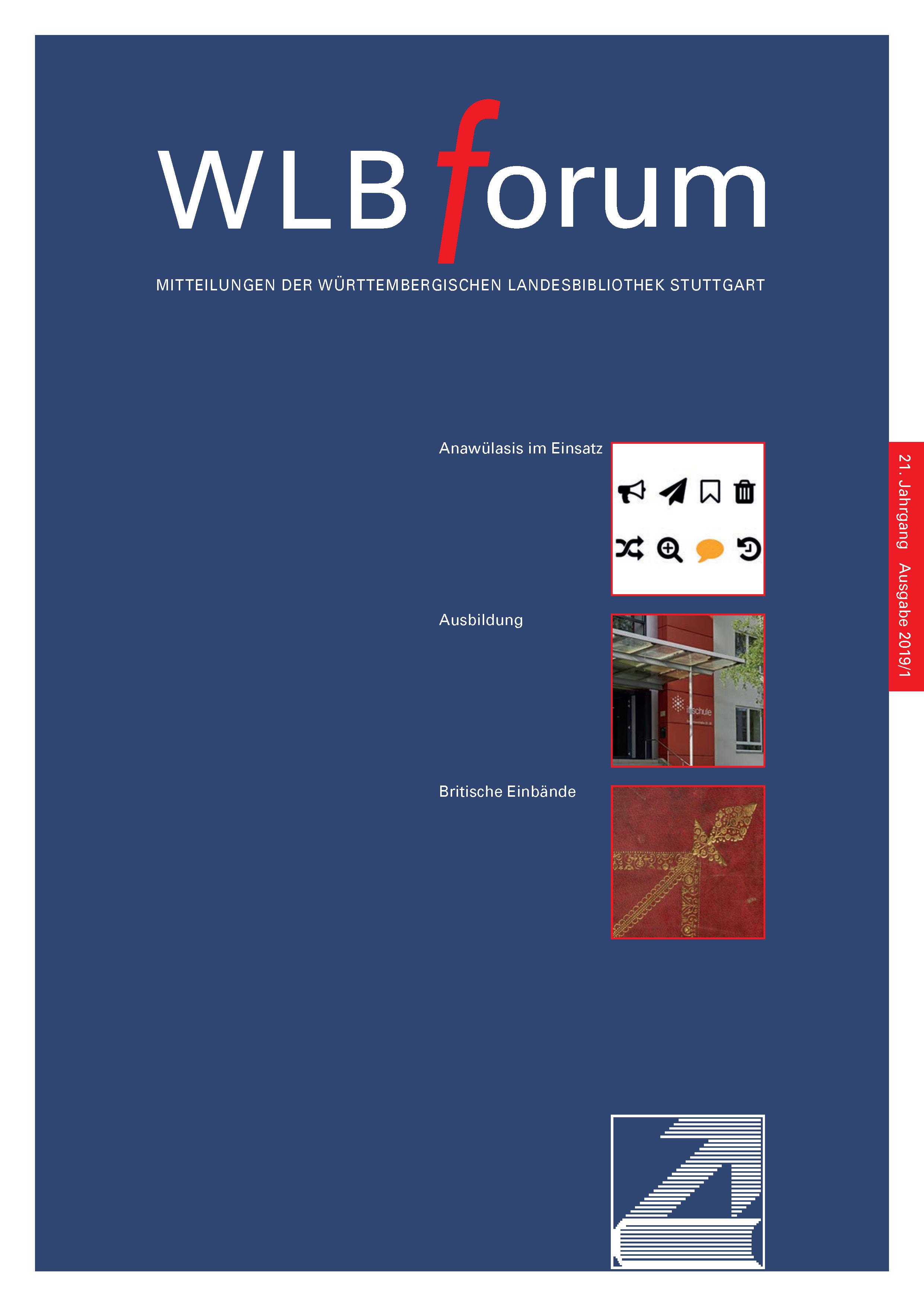 Ansehen Bd. 21 Nr. 1 (2019): WLBforum