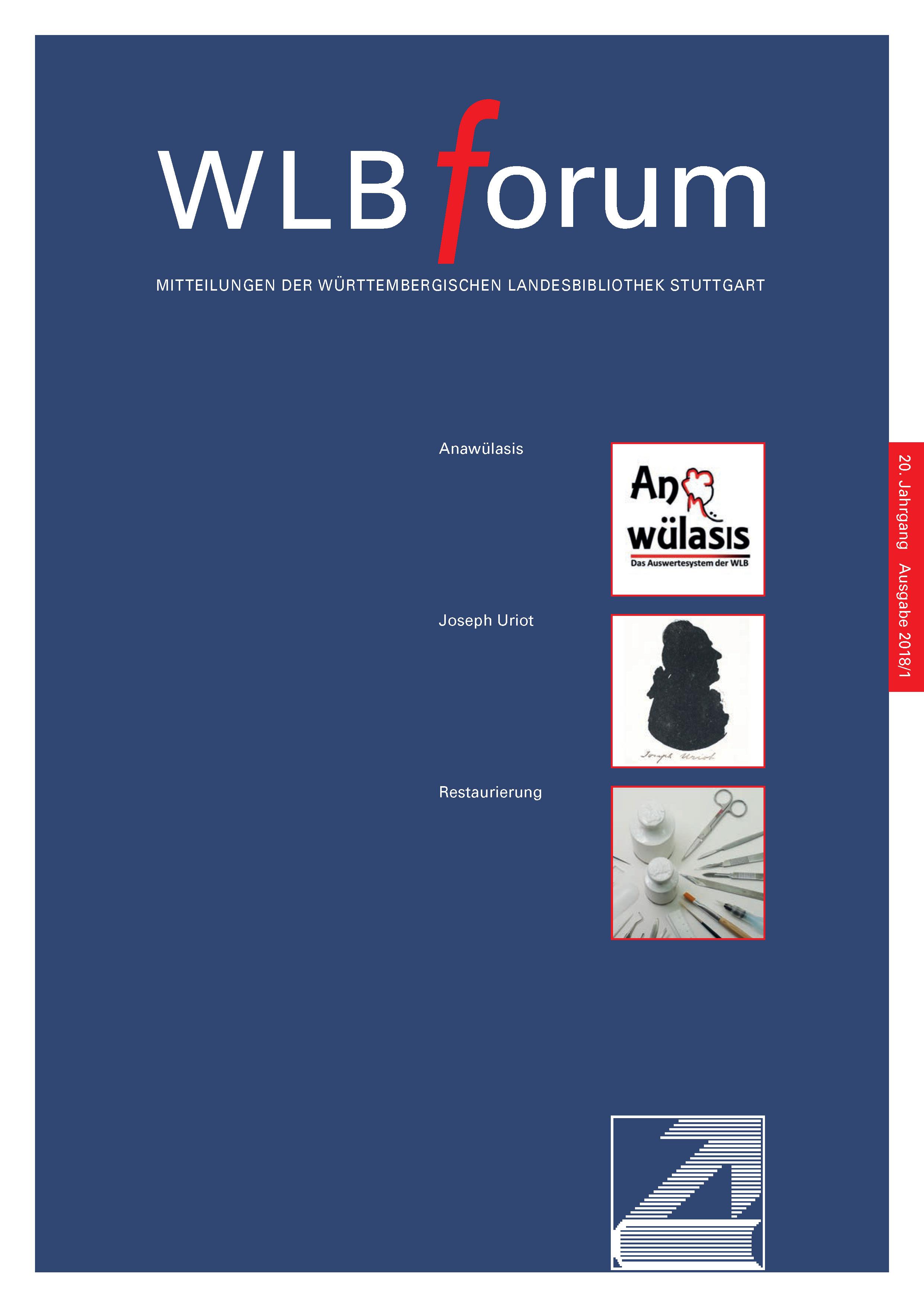 Ansehen Bd. 20 Nr. 1 (2018): WLBforum