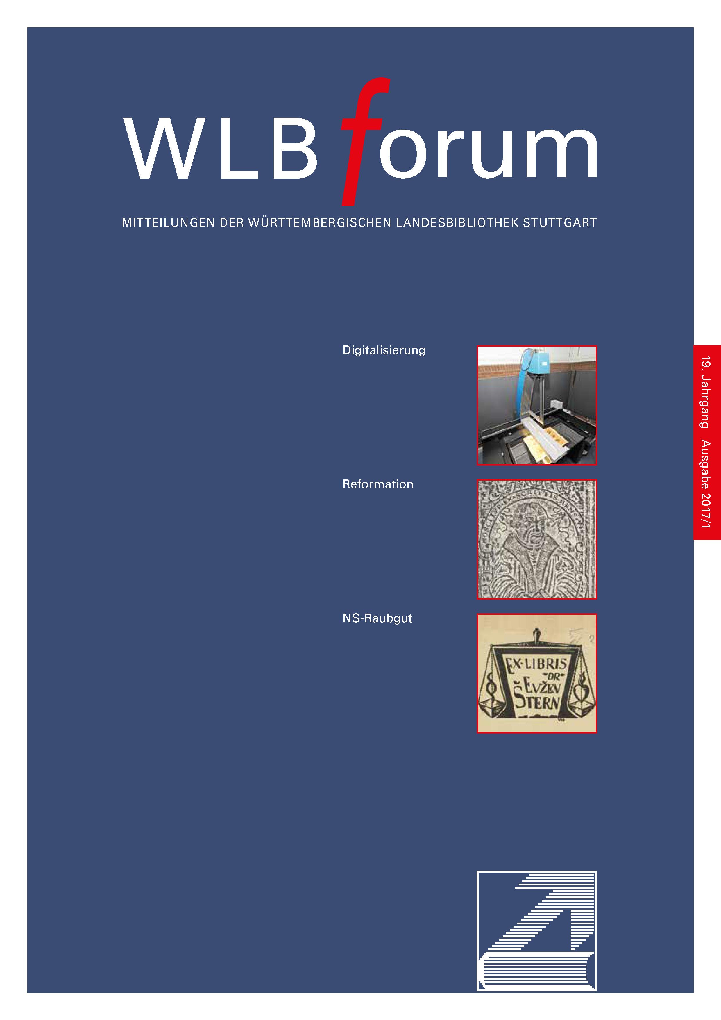 Ansehen Bd. 19 Nr. 1 (2017): WLBforum
