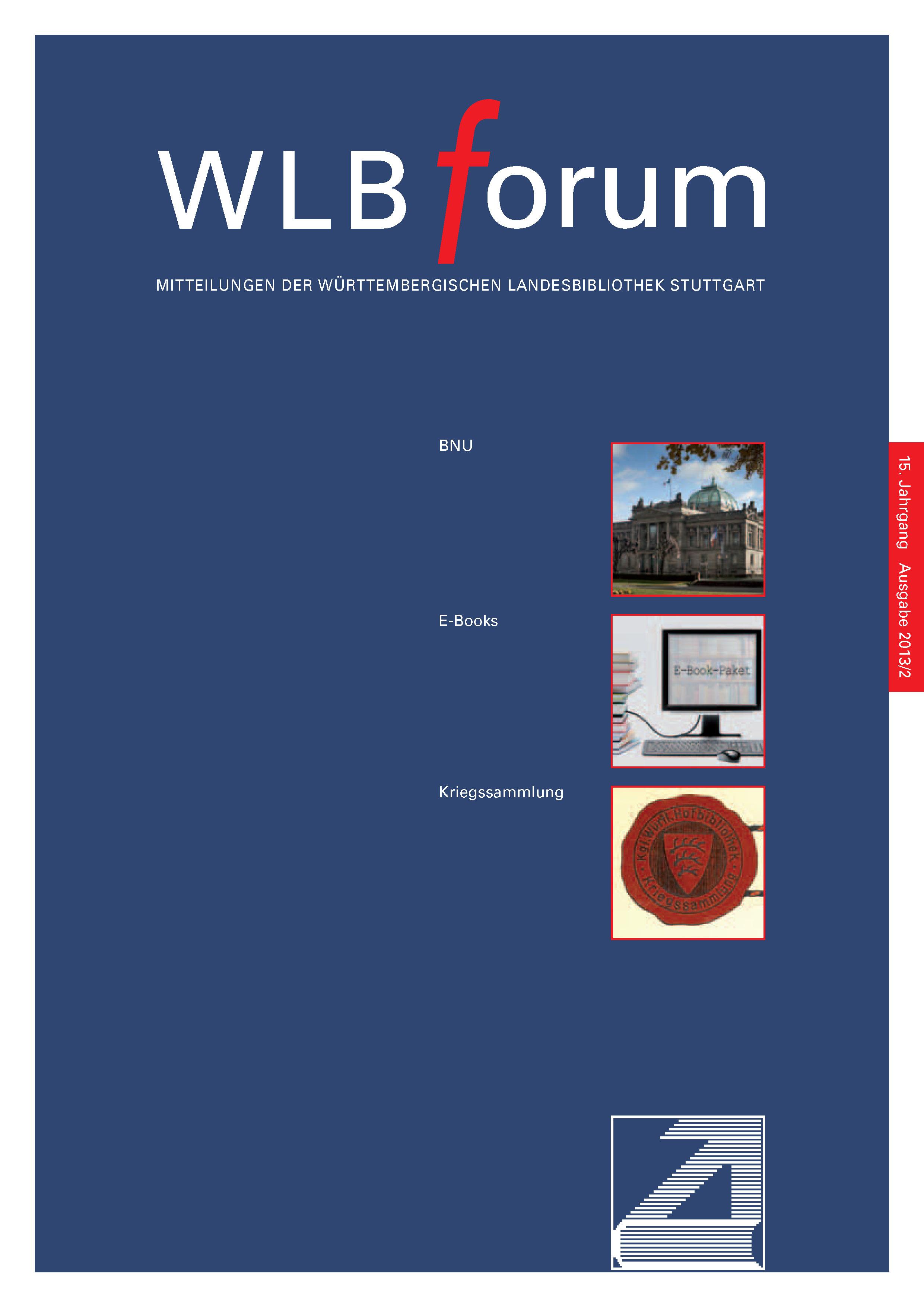 Ansehen Bd. 15 Nr. 2 (2013): WLBforum
