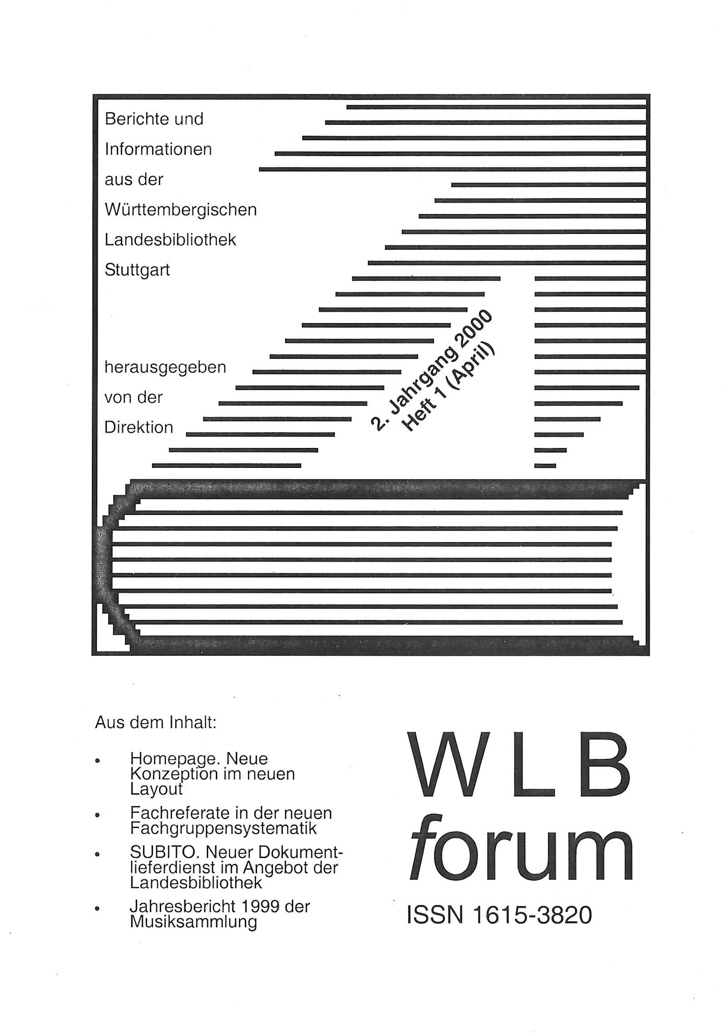 Ansehen Bd. 2 Nr. 1 (2000): WLBforum